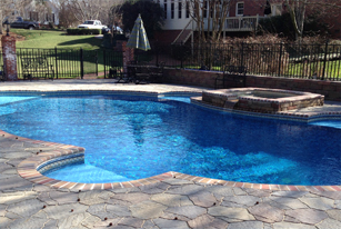 Carolina pool builder charlotte shotcrete pools weekly for Innovative pool design kings mountain