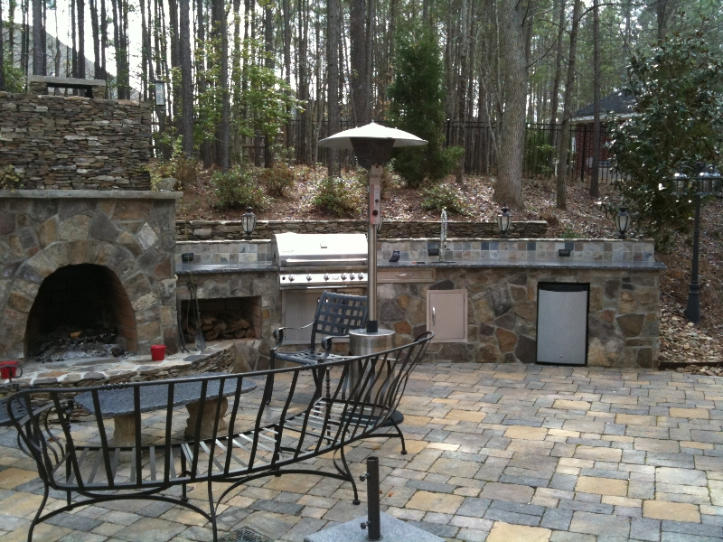 Charlotte Outdoor Kitchen Pictures Outdoor Fireplace Photos
